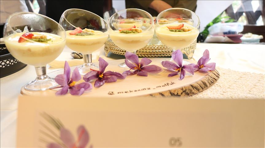 Photo of Saffron dessert competition in the Turkish saffron tourist city