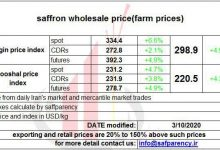 Photo of Saffron price chart; Rising saffron prices in all markets